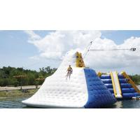 Quality Huge Inflatable Floating Aqua Park Blue , Yellow And White Color EN15649 for sale