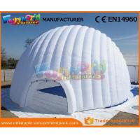 China Large PVC Coated Nylon Or PVC Tarpaulin Inflatable Igloo Tent Inflatable Dome Tent For Outdoor on sale