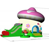 Kids Home Small Inflatable Bounce House Combo With Slide Party Mushroom Castle