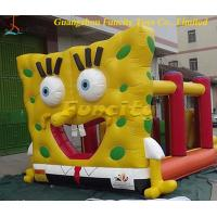 China Customized 0.55mm Pvc Yellow Inflatable Jumping Castle For Lovely Fun Party on sale