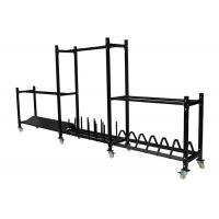 Wholesale Black Gym Accessory Rack For Dumbbell / Kettlebell / Plate / Medicine Ball from china suppliers