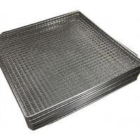 Buy cheap Woven wire grill mesh basket for holding glass plate stainless steel 304 from wholesalers