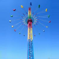 Wholesale Thrilling Theme Park Sky Drop Ride , 60m Free Fall Ride 36 Riders from china suppliers