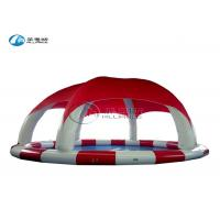 Quality multicolor inflatable round pool inflatable water pool with tent cover for sale