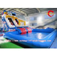 China Giant Commercial Grade Inflatable Water Slide , Inflatable Double Water Slide on sale