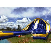 Wholesale 10m high adults giant inflatable triple water slide for water occasions entertainment from china suppliers