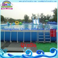 Wholesale Outdoor metal frame pool above ground metal swimming pool from china suppliers