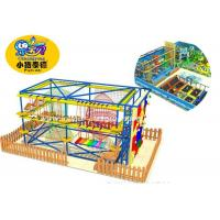 Wholesale Colorful Ninja Obstacle Course Equipment / Indoor Rope Courses Climbing Adventure Park from china suppliers