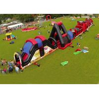 China Outdoor Obstacle Course Game For Playground , Boot Camp Inflatable Obstacle Course on sale
