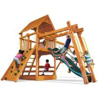 Wholesale Backyard Wooden Outdoor Playset Compact Design Swing And Climbing Cottage from china suppliers