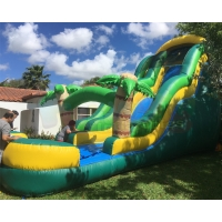 China Backyard Water Park 0.55mm Commercial Bounce House Water Slide on sale