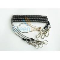 Wholesale Security Rope Wire Retractable Coil Cord Fall Protection For Tools , 3 Meter Max Stretch from china suppliers