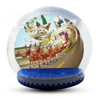 Buy cheap Festival Decoration Airblown Inflatable Snow Globe Customized Logo from wholesalers