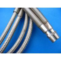 China Silver PTFE Teflon Tube , PTFE Teflon Pipe Wrapped Stainless Steel Wire on sale