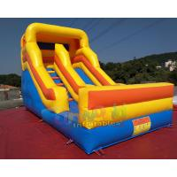 China Commercial Inflatable Dry Slide Bouncer For Kids And Adults / Blow Up Land Slide on sale