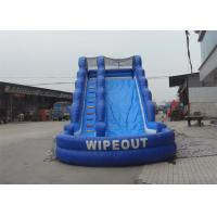 Wholesale Wipeout PVC Inflatable Giant Slide With Pool / Inflatable Water Slide For Kids And Adults from china suppliers