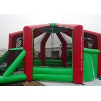 Wholesale 0.55mmPVC Tarpaulin Outdoor Inflatable Sports Games Kids / Adults With Red And Green from china suppliers