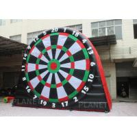 Quality 5mH Interactive Inflatable Sports Games Blow Up Soccer Dart Board With Velcro for sale