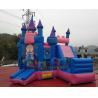 Buy cheap Park Inflatable Bouncer Slide / Princess Inflatable Bounce House With Slide from wholesalers