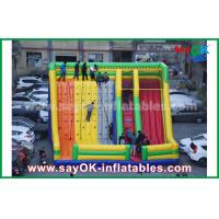 9.5*7.5*6.5m Colorful Inflatable Bouncer Slide With Climbing Wall For Amusement Park