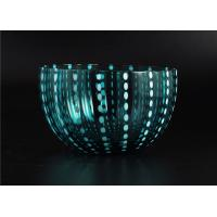 Quality Home Decor Coloured Glass Candle Holders , Glass Jars For Candles for sale