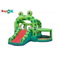 Wholesale Cute Green Frog Inflatable Bouncer Castle With Slide For Kids Party from china suppliers