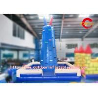 China Giant Inflatable Adult Slide Rock Climbing Wall / Inflatable Rock Climbing Wall Rentals on sale