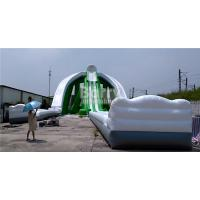 China Summer Kids Games Adult Size Inflatable Water Slide With Blower 3 Years Warranty on sale