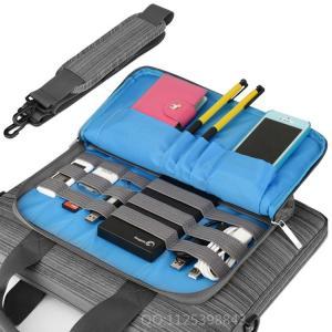 China Adjustable Nylon Mens Messenger Laptop Bags Grey Color For Macbook Pro on sale
