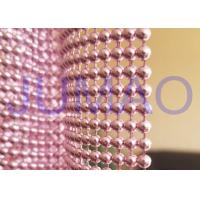 Wholesale Pink Steel Ball Curtain , Architectural Decorative Ball Chain Beaded Curtain  from china suppliers