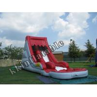 Wholesale Outside Mini Pool Big Red And White Inflatable kids Water Slide rentals from china suppliers