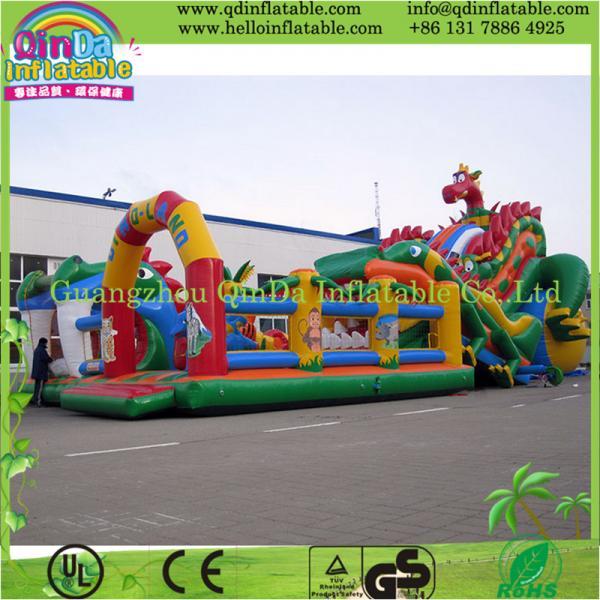 Quality Popular Inflatable Toys Castle Slide Fun City for Amusement Park for sale