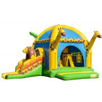 Wholesale Big Party Giraffe Inflatable Bounce House With Slide Digital Printing Enviroment - Friendly from china suppliers