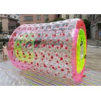 Wholesale Large Size Inflatable Walking Roller , Red Inflatable Rolling Ball Water Roller Toy from china suppliers