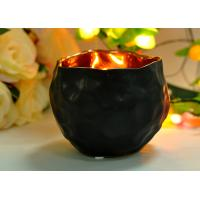 Hand Made Custom Two Different Size Ceramic Black Color Candle Holders