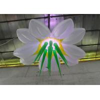 Quality Multi Color Hanging Lighting Large Inflatable Flowers With Led Bulb for sale