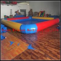 PVC 0.9 yellow and red color inflatable swimming pool large inflatable pool for sale