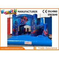 Wholesale Bule Commercial Inflatable Slide / Castillos Hinchables Spiderman Jumping Castle from china suppliers