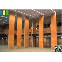 Fabric Wooden Exhibition Partition Wall , Folding Operable Partition Walls