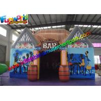 China Waterproof Inflatable Bar Tent , House Inflatable Event Tent With Barrel on sale