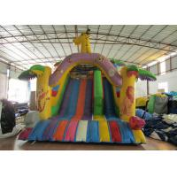 Wholesale Giraffe arch inflatable standard dry slide animals zoo park inflatable standard slide for children from china suppliers