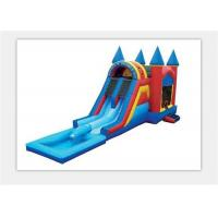 China Safety 0.55mm PVC Outdoor Inflatable Bouncy Castle Water Slide For Kids on sale
