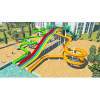 China Outdoor Spiral Adult Water Slides And Rainbow Wavy Mat Racer Water Slide on sale