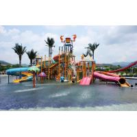 Wholesale 8m Height Water Park Aqua Playground With 189# Resin Fiberglass , 17m X 13m X 8m from china suppliers