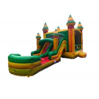 Professional Jungle Inflatable Bounce House Castle 0.55mm PVC Material