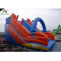 Wholesale Red Blue PVC Tarpualin Inflatable Dry Slide Puncture - Proof For Kindergarten from china suppliers