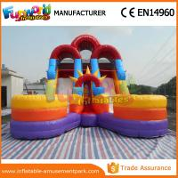 Quality 1 Year Warranty Kids Water Slide Inflatable Floating Water Slide With Pool for sale