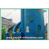 Wholesale Customized Blue PVC Inflatable Bounce House / Inflatable Slide from china suppliers