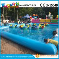 Wholesale Customized Inflatable Water Pool / Swimming Pool With Paddle Boat CE Approval from china suppliers