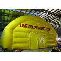 Wholesale 1000D Yellow Color Inflatable Outdoor Tent Double Stitching And Heat Sealing from china suppliers